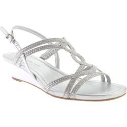 Women's Bandolino Gilnora Wedge Sandal Silver/Silver Fabric