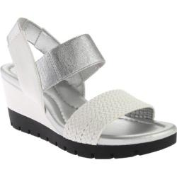 Women's Bandolino Mateja Wedge Sandal White Multi Synthetic