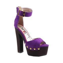 Women's Luichiny Buck Ley Ankle Strap Sandal Purple Imi Suede