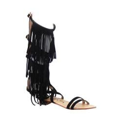 Women's Luichiny Caught Me Gladiator Sandal Black Imi Suede