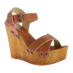 Women's Charles by Charles David Munich Wedge Sandal Camel Leather