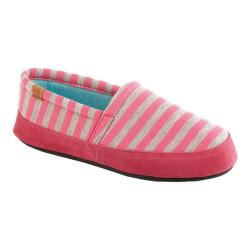 Women's Acorn Acorn Moc Summerweight Pink Stripe