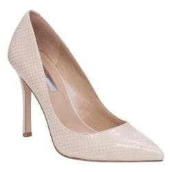 Women's BCBGeneration Treasure Pump White Smooth Snake Foil