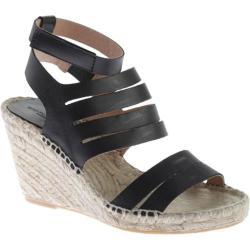Women's Charles David Ona Ankle Strap Sandal Black Leather
