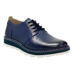 Men's Clarks Darble Walk Lace Up Shoe Blue Leather