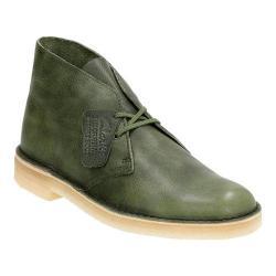 Men's Clarks Desert Boot Green Leather