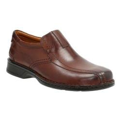 Men's Clarks Escalade Step Slip-On Brown Full Grain Leather/Leather