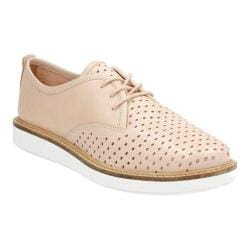 Women's Clarks Glick Resseta Oxford Nude Full Grain Leather
