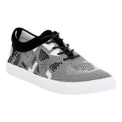 Women's Clarks Glove Glitter Sneaker Black/White Knit