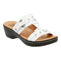 Women's Clarks Hayla Young T Strap Sandal White Leather