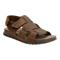 Men's Clarks Keften Cove Ankle Strap Sandal Tobacco Nubuck