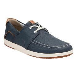 Men's Clarks Norwin Go Moc Toe Shoe Navy Synthetic