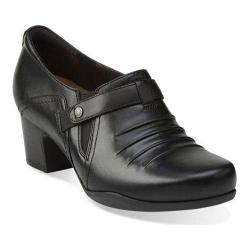 Women's Clarks Rosalyn Nicole Black Leather