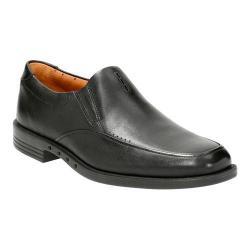 Men's Clarks Un.Bizley Lane Slip On Black Leather