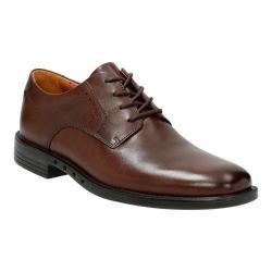 Men's Clarks Un.Bizley Plain Toe Shoe Dark Brown Leather
