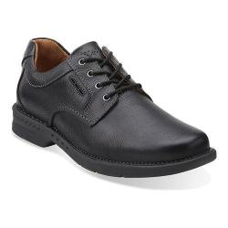 Men's Clarks Untilary Way Oxford Black Leather