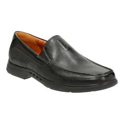 Men's Clarks Un.Easley Twin Loafer Black Leather
