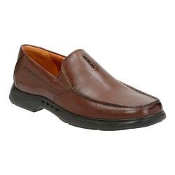 Men's Clarks Un.Easley Twin Loafer Dark Brown Leather