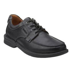 Men's Clarks Untilary Pace Moc Toe Shoe Black Leather