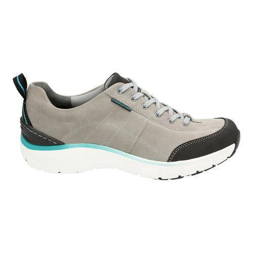 s clarks wave trek walking shoe grey nubuck