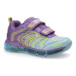 Girls' Geox Android Sneaker J5245A Little Kid Purple/Sky Polyurethane/Textile