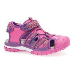 Girls' Geox Jr Borealis Girl Sandal J620WB Fuchsia Mesh/Synthetic