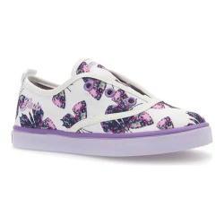 Girls' Geox Jr Ciak Girl Sneaker J5204E White/Lilac Canvas