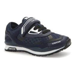Boys' Geox Jr Pavel Sneaker J6215A Navy Polyurethane/Textile