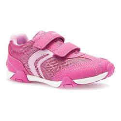 Girls' Geox Jr Tale Sneaker J6221A Fuchsia/Pink Polyurethane/Textile