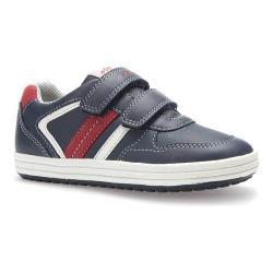 Boys' Geox Jr Vita Sneaker J62A4A Navy/Dark Polyurethane/Leather