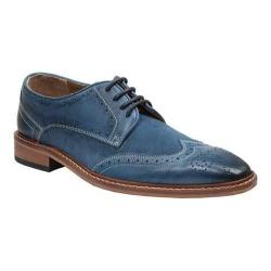 Men's Giorgio Brutini 4 Eyelet Wing Tip Oxford 25046 Blue Mid Leather/Suede