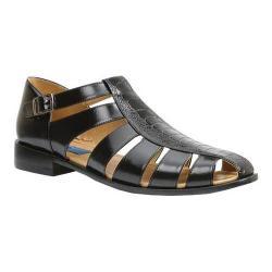 Men's Giorgio Brutini T-Strap City Strappy Sandal 21099 Black Ostrich Leg/Plain