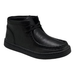 Boys' Hush Puppies Bridgeport 2 Chukka Boot Black Leather