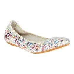 Women's Hush Puppies Chaste Ballet Flat White Novelty Leather