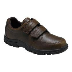Boys' Hush Puppies Jace Hook-and-Loop Shoe Brown Leather