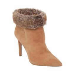 Women's Jessica Simpson Carine Bootie Dakota Tan Lux Kidsuede/Glam Fur