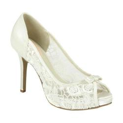 Women's Pink Paradox London Zinnia Peep-Toe Pump Ivory Lace