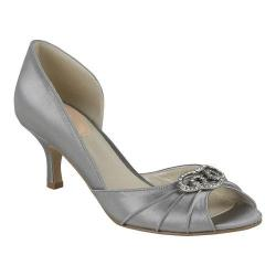 Women's Pink Paradox London Amelia Peep-Toe Pump Silver Satin