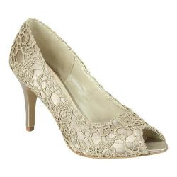 Women's Pink Paradox London Cosmos Peep-Toe Pump Taupe Lace