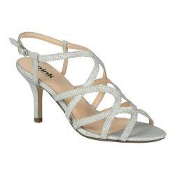 Women's Pink Paradox London Rich Sandal Silver Glitter/Mesh