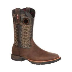Men's Rocky 11in LT Western Steel Toe Boot RKW0139 Dark Brown/Sunset Brown Leather