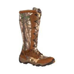 Men's Rocky 17in Retraction Lace Up Snake Boot RKS0242 Realtree Xtra/Brown/Leather/Cordura