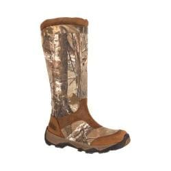 Men's Rocky 17in Retraction Snake Boot With Side Zipper RKS0243 Realtree Xtra/Brown/Leather/Cordura