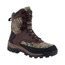 Women's Rocky 8in Core Insulated Boot WP Brown/Realtree AP Full Grain Leather/Textile