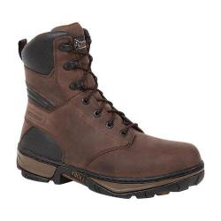 Men's Rocky 8in Forge WP Work Boot RK022 Darkwood Full Grain Leather