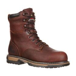 Men's Rocky 8in IronClad 6694 Boot Bridle Brown Leather
