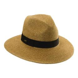 Women's Scala LP122 Paper Braided Fedora with Ribbon Toast