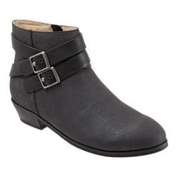 Women's SoftWalk Rancho Boot Black Distressed Nubuck/Nappa Soft Leather