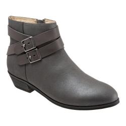 Women's SoftWalk Rancho Boot Graphite Distressed Nubuck/Nappa Soft Leather