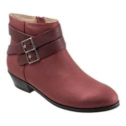 Women's SoftWalk Rancho Boot Red Distressed Nubuck/Nappa Soft Leather